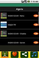 Screenshot of Radio Algeria