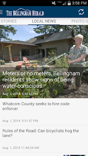 Bellingham Herald WA newspaper - screenshot thumbnail