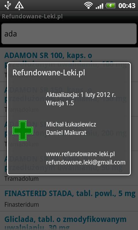 Refundowane Leki- screenshot