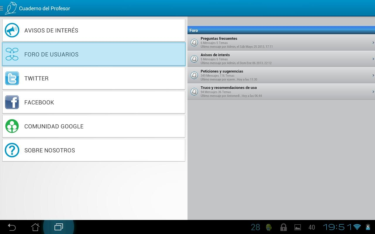 Teacher's Notebook Lite- screenshot