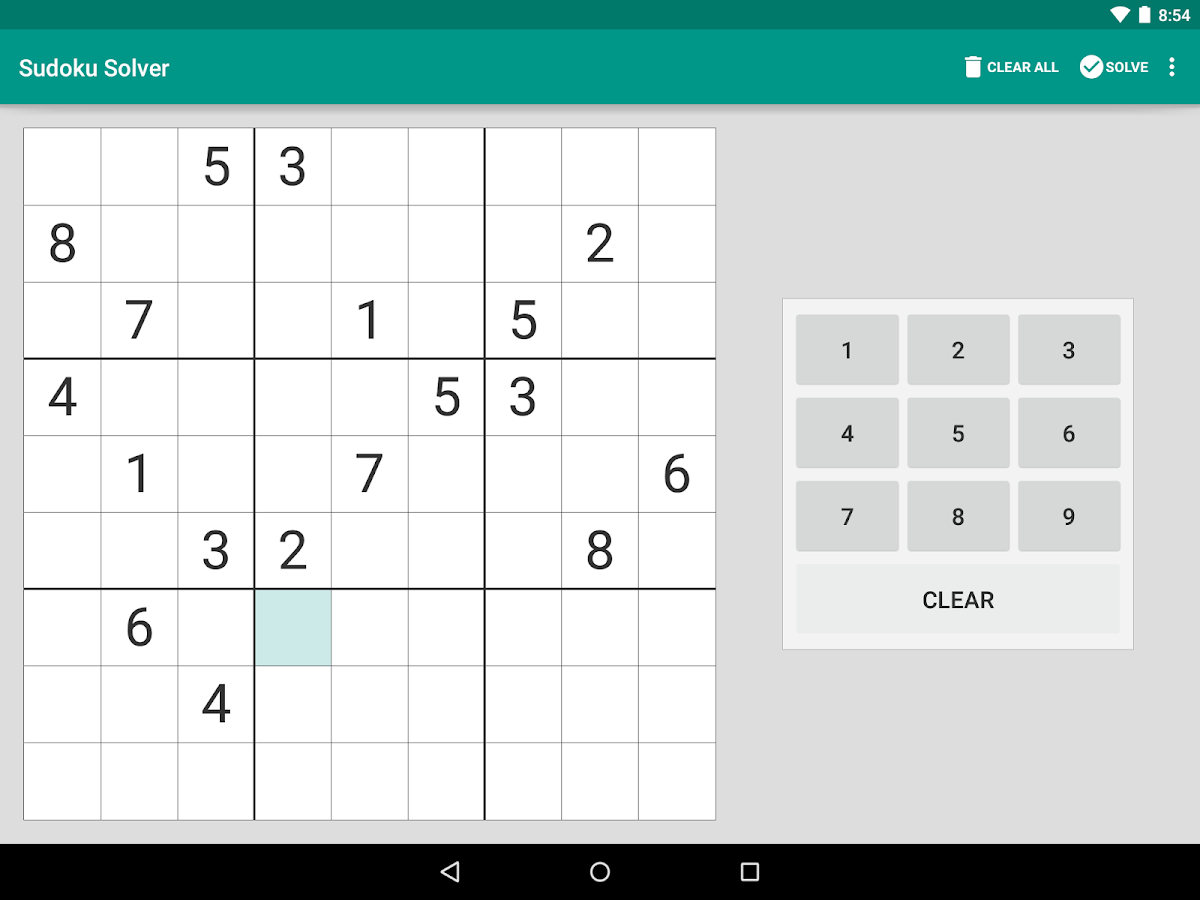 Sudoku Solver- screenshot