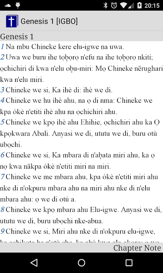 Igbo Bible- screenshot