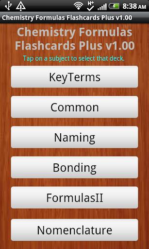 Chemistry Formulas Flashcards+