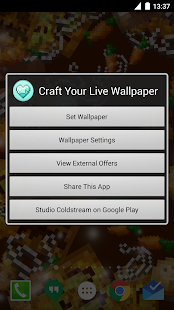 Live Minecraft Wallpaper - screenshot thumbnail