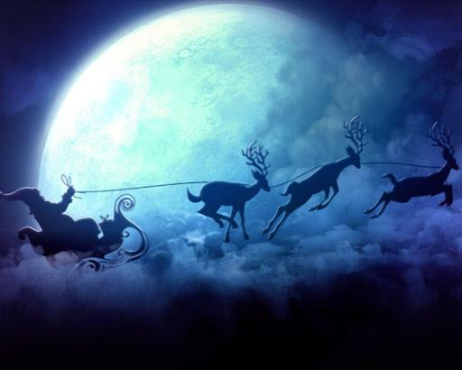 聖誕老人的雪橇動態壁紙