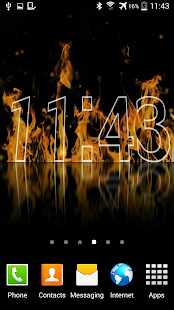 Fire Clock Live Wallpaper - screenshot thumbnail