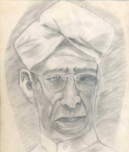 Sarvepalli radhakrishnan by wazim ismail drawing all drawing pencil president graphite