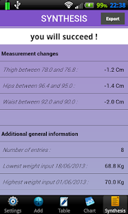 Weigh-In Deluxe Weight Manager - screenshot thumbnail