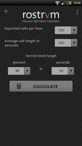 Rostrvm Call Centre Calculator
