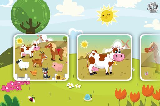 幼児と子供向け動物パズル