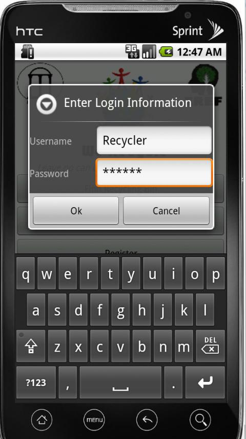 WeRecycle - screenshot