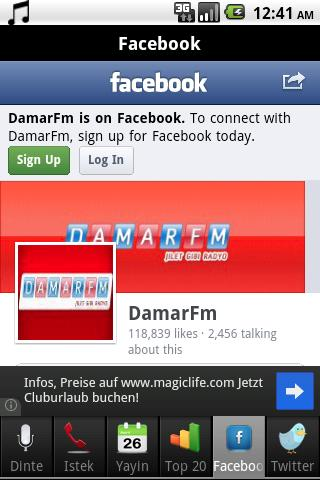DamarFm Android Radyo - screenshot