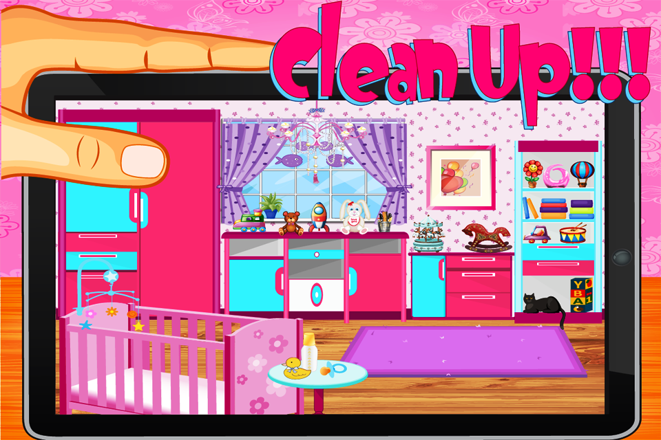 baby rooms cleaning game screenshot