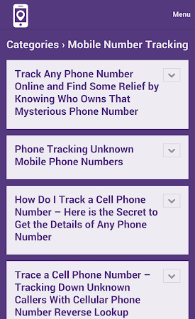 Mobile Number Tracker Tips 1.0 screenshot 9978