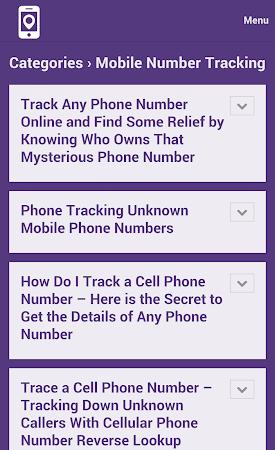 Mobile Number Tracker Tips 1.0 screenshot 9978