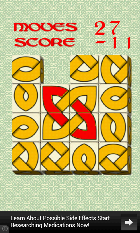 Oxvo, celtic slide puzzle- screenshot