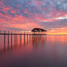 Jetty Sunset by Johan Wan - Buildings & Architecture Bridges & Suspended Structures