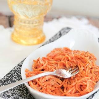 Creamy Crock Pot Spaghetti.