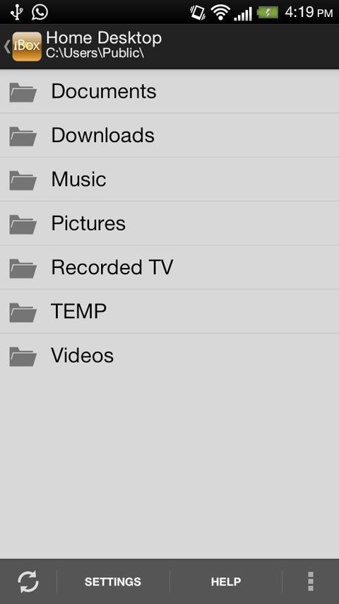 iBox: Remote File Access- screenshot