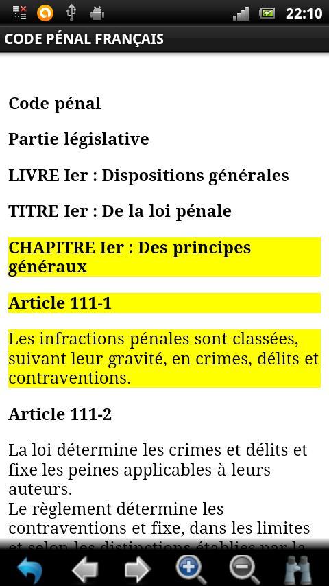 Code Pénal Français GRATUIT - screenshot