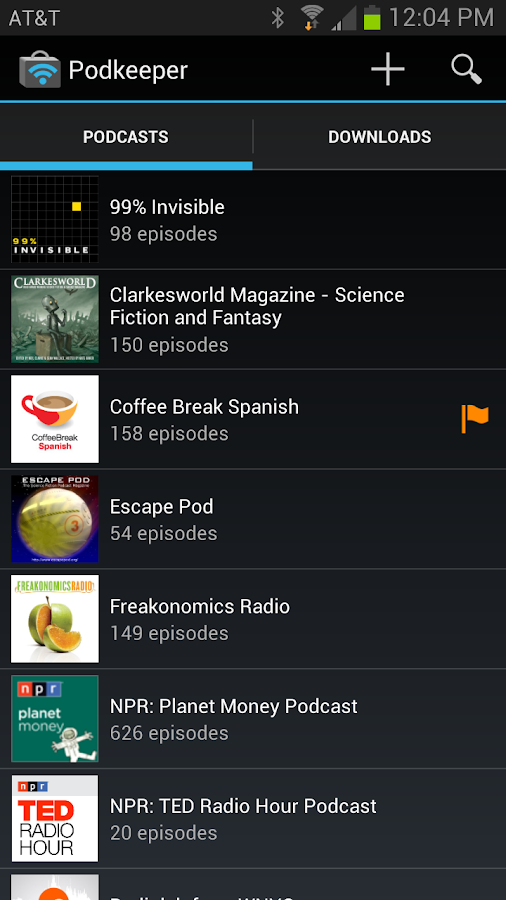 Podkeeper Free podcast player- screenshot