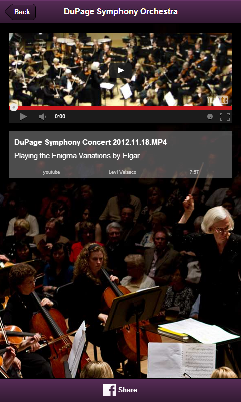 DuPage Symphony Orchestra - screenshot