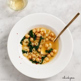 Chickpea Lemon Miso Noodle Soup