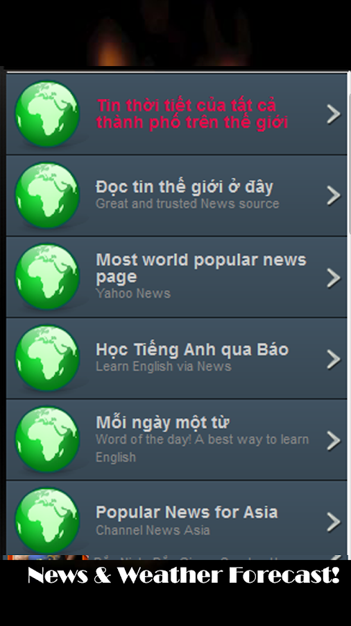 Du Bao Thoi Tiet Weather News! - screenshot