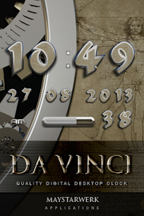 Digi Clock Widget Davinci Screenshot