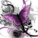 Purple Butterfly With Glitters logo