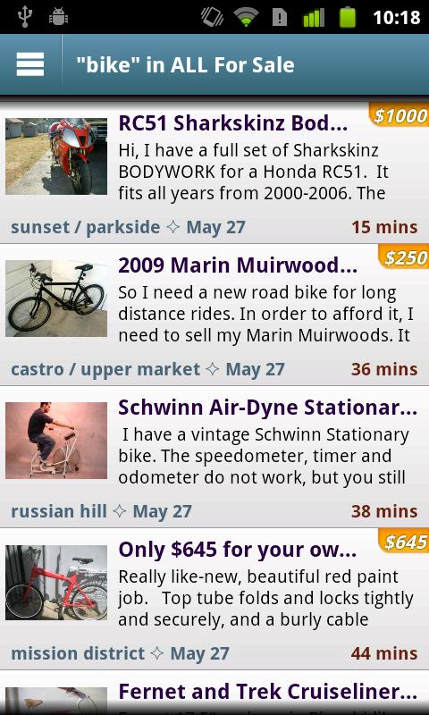 City Shop - Craigslist App - screenshot