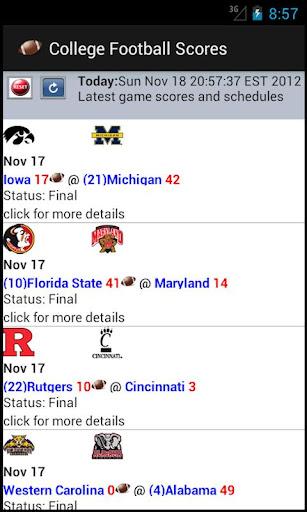 College Football Scores NCAA