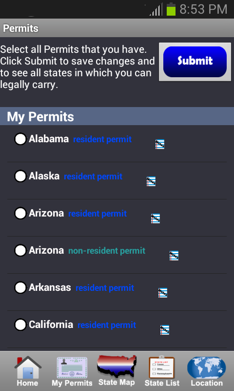 CCW – Concealed Carry 50 State - screenshot