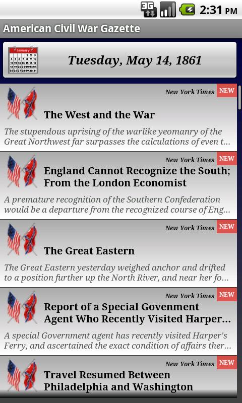 American Civil War Gazette- screenshot