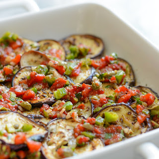 Marinated Eggplant.