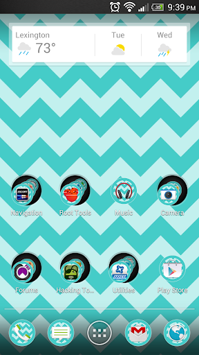 Chevron Blue Theme