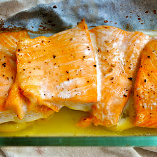 Baked Salmon with Lime and Honey.