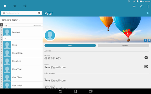 App ASUS Contacts APK for Windows Phone