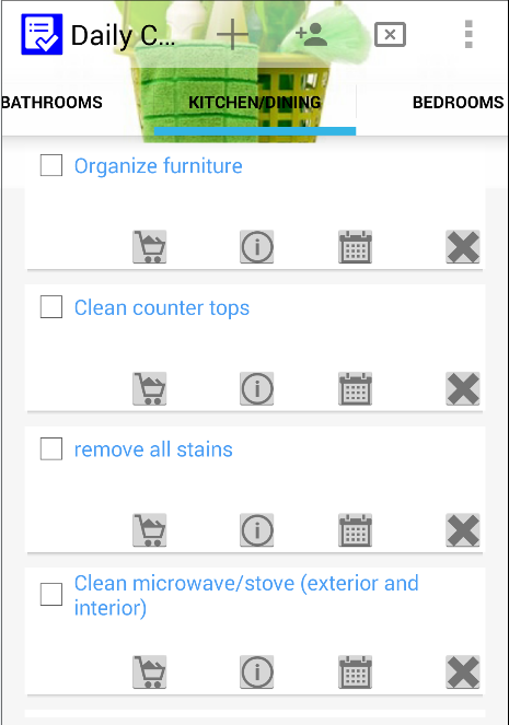 Daily house cleaning checklist android apps on google play
