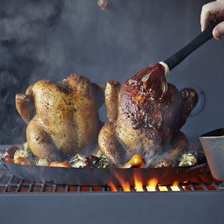 Grill-Roasted Chicken with Boulevard Barbecue Sauce