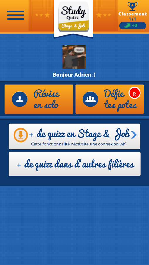 Stage and Job Study Quizz- screenshot