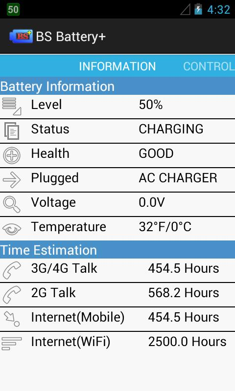 BS Battery+ - screenshot