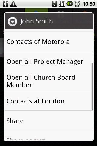 Corporate Contacts (free)- screenshot