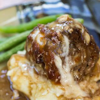 French Onion Stuffed Meatballs.