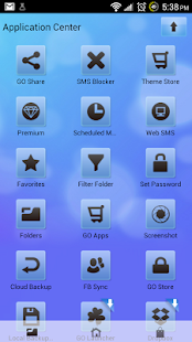 Go SMS Pro Theme Soft Blue - screenshot thumbnail