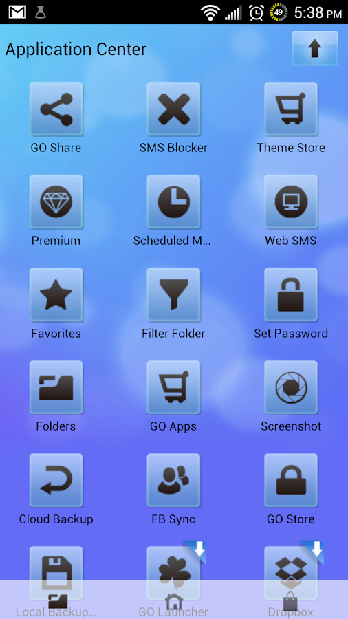 Go SMS Pro Theme Soft Blue - screenshot