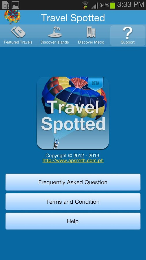 TravelSpotted Beta- screenshot