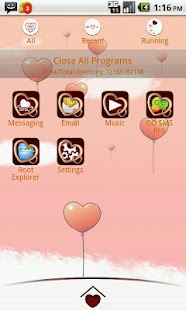 My Valentine GO Launcher Theme - screenshot thumbnail