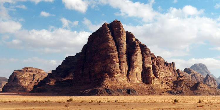 Take a cruise to reach Jordan's Seven Pillars of Wisdom at  Wadi Rum, which Sir Lawrence of Lawrence of Arabia fame helped make famous. It's listed on UNESCO's World Heritage Register.