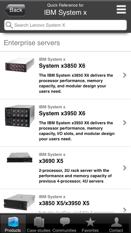 System X Quick Reference - screenshot